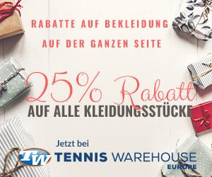 Tennis Warehouse 25% auf Kleidung